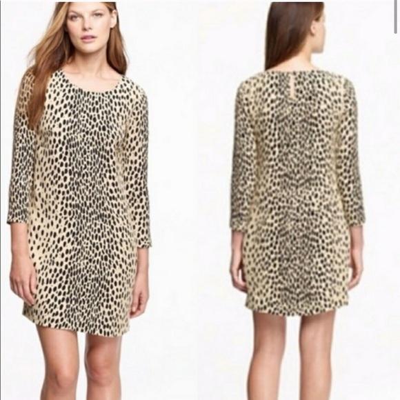 J. Crew Leopard dress